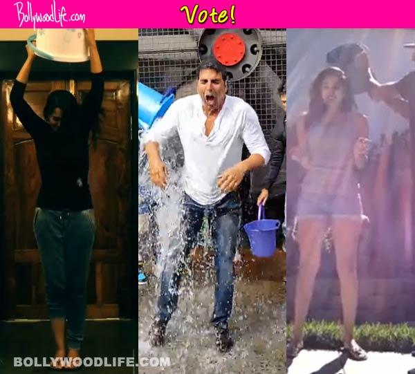 Akshay Kumar, Sunny Leone, Sonakshi Sinha - Which celeb impressed you with their ALS ice bucket challenge? Vote!