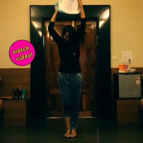 Sonakshi Sinha takes up the ALS ice bucket challenge- Watch video!
