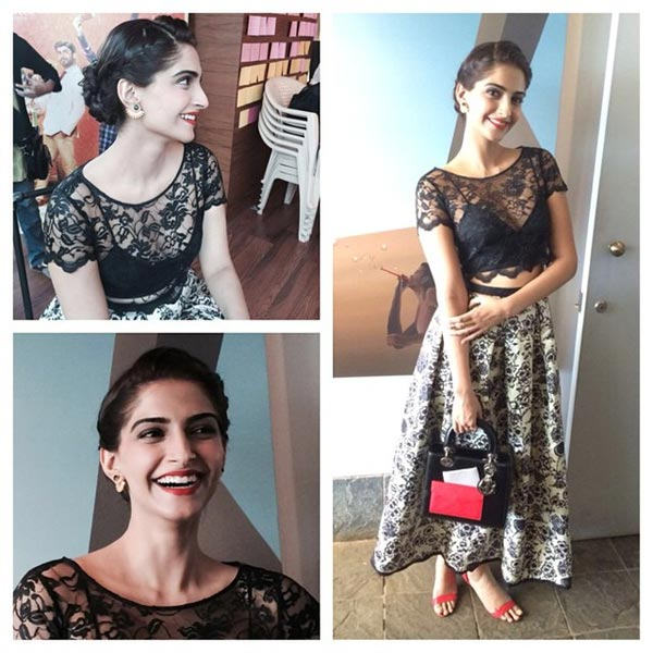 Sonam Kapoor floors fashion pundits in a lacy Sonal Kalra Ahuja outfit!