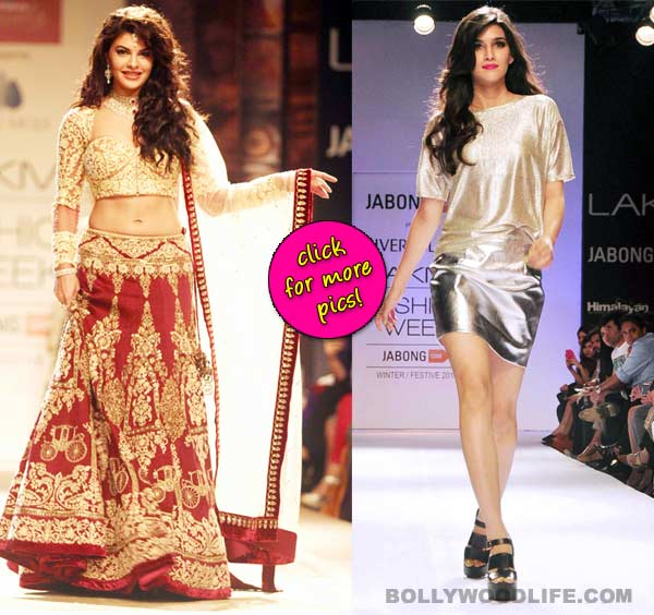 Jacqueline Fernandez and Kriti Sanon set the ramp on fire at Lakme Fashion Week – View pics!