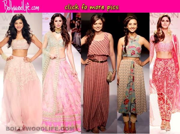 Lakme Fashion Week 2014: Shruti Hassan, Nargis Fakhri, Drashti Dhami turn stunning showstoppers- View pics!