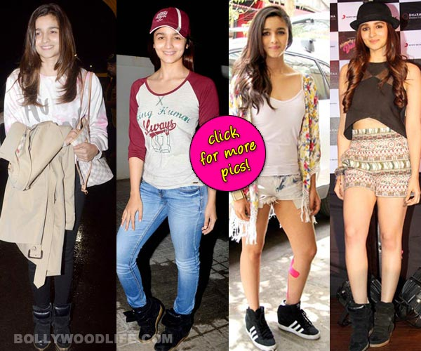 When will Alia Bhatt get rid of her black sneakers? View pics!