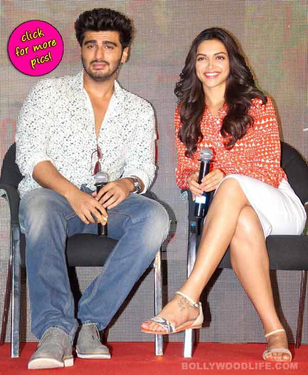 Deepika Padukone and Arjun Kapoor at the launch of Finding Fanny song Shake Your Bootiya-view pics!