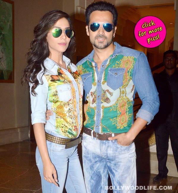 Emraan Hashmi and Humaima Malik promote Raja Natwarlal's song Flip Your Collar- View pics!