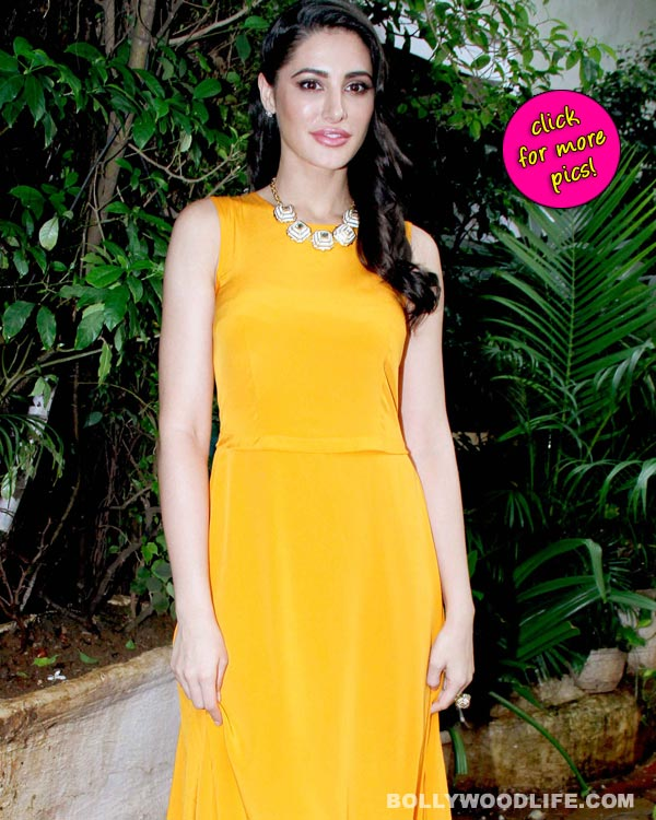 Nargis Fakhri sizzles in a yellow DKNY gown-view pics!