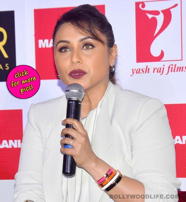 Rani Mukerji talks about women empowerment at the Mardaani anthem launch-view pics!