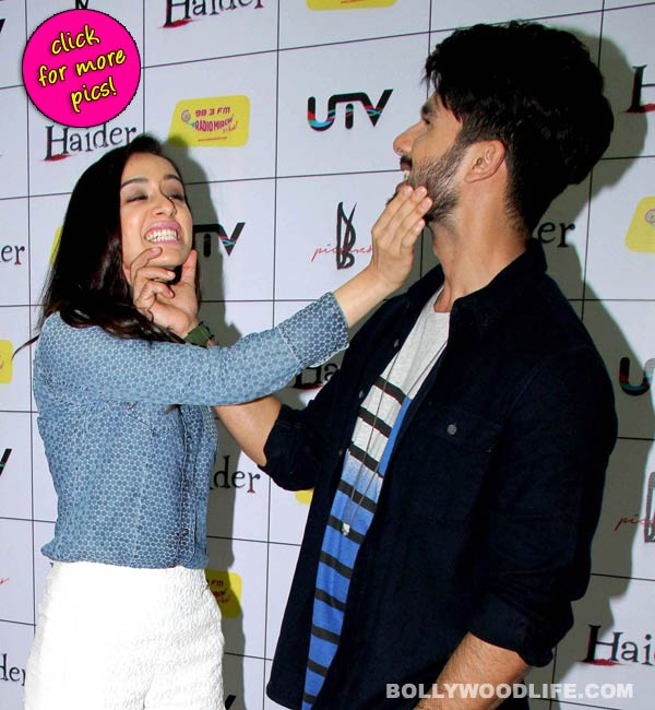 Shahid Kapoor and Shraddha Kapoor's camaraderie during Haider promotions grabs eyeballs- View pics!