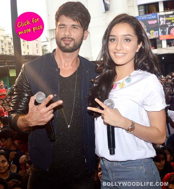 Shraddha Kapoor and Shahid Kapoor's adorable PDA while promoting Haider- View pics!