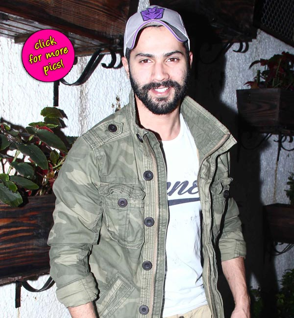 Varun Dhawan sports a sexy stubble at the screening of Entertainment-view pics!