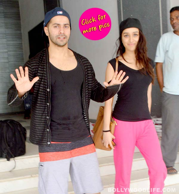 Shraddha Kapoor and Varun Dhawan spotted after their practice for ABCD 2-view pics!