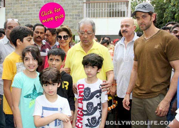 Ganesh Visarjan 2014: Bang Bang actor Hrithik Roshan bids farewell to Lord Ganesha with family-view pics!