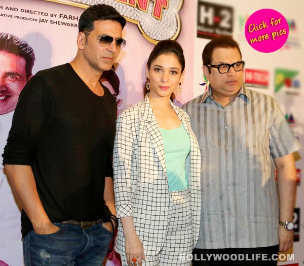 Akshay Kumar and Tamannaah promote Entertainment in Delhi- View pics!