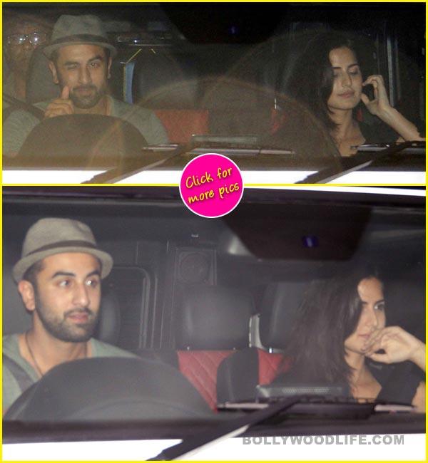 Ranbir Kapoor and Katrina Kaif spotted at Karan Johar's residence - view pics!