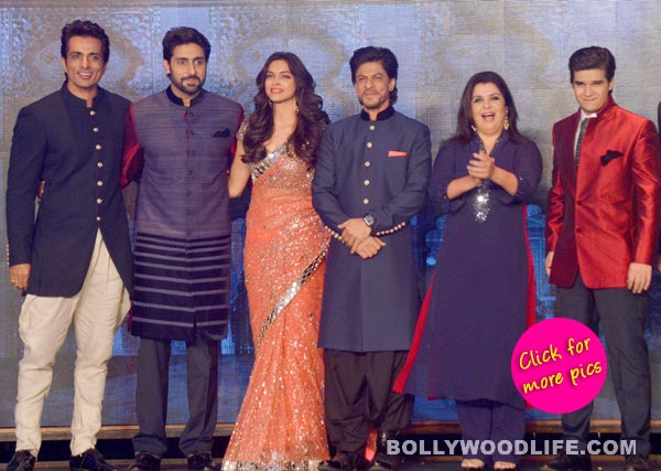 Shah Rukh Khan, Deepika Padukone and others from Happy New Year's Team India launch movie trailer- View pics!