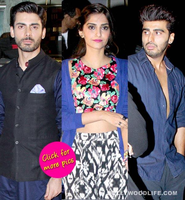 Sonam Kapoor and Fawad Khan shoot for Khoobsurat, Arjun Kapoor pays a surprise visit on set- View pics!