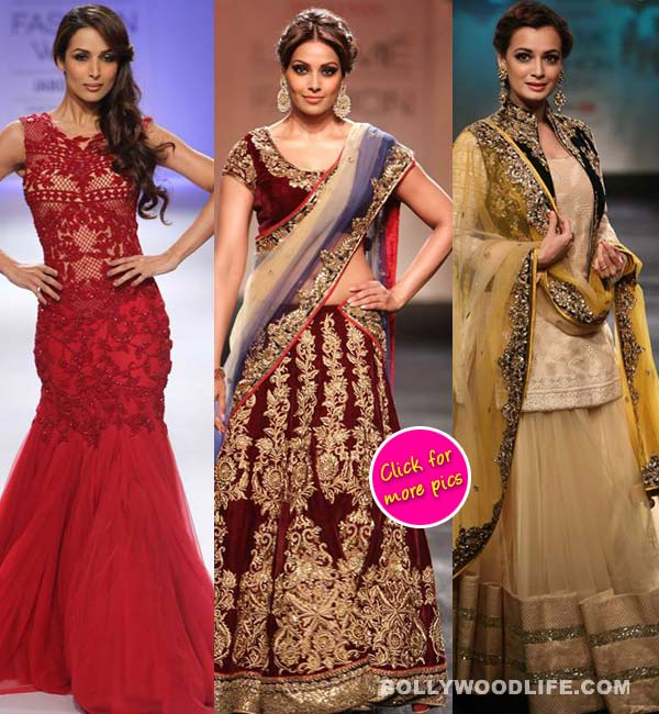 Lakme Fashion Week Winter/Festive 2014: Malaika Arora Khan, Bipasha Basu and Dia Mirza sizzle on the ramp - view pics!