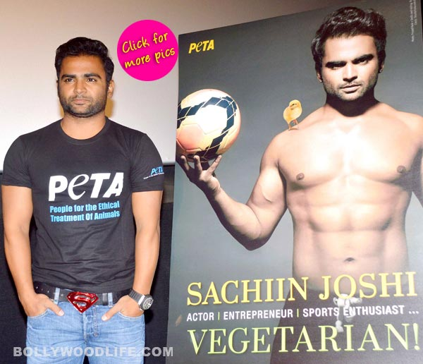 Sachiin Joshi joins hands with PETA, supports vegetarianism – View pics!