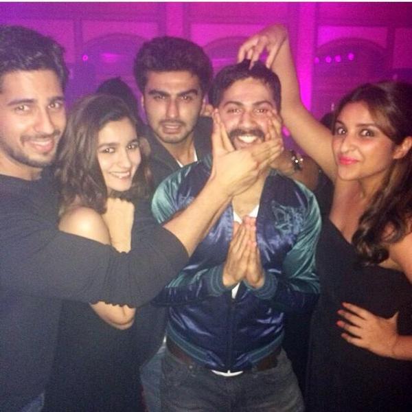 Parineeti Chopra parties with Sidharth Malhotra, Varun Dhawan, Alia Bhatt and Arjun Kapoor-View pics!