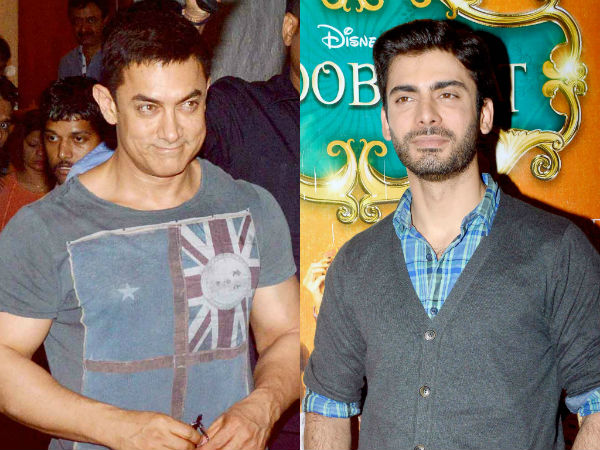 Aamir Khan pays a surprise visit to Fawad Khan on the sets of Kaun Banega Crorepati