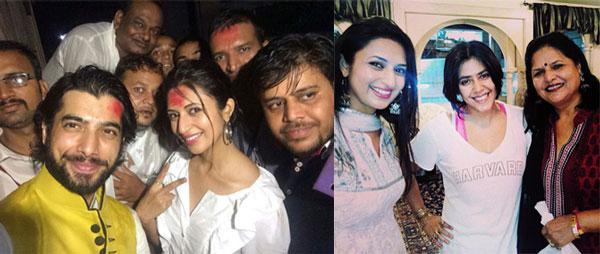 Divyanka Tripathi celebrates Ganesh with Ekta Kapoor: View pics!