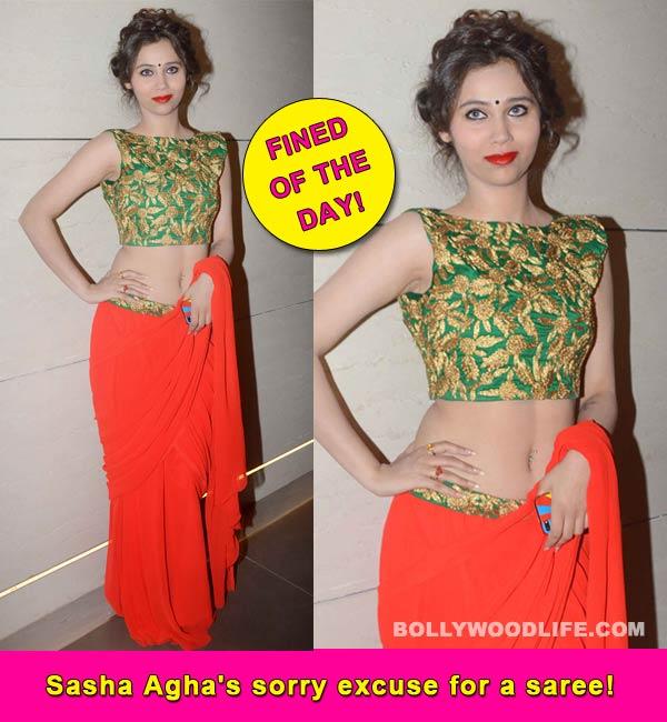 Desi Kattey actor Sasha Agha's desi look is a flop!