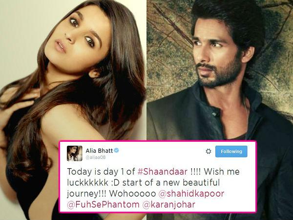 Alia Bhatt and Shahid Kapoor start shooting for Shandaar