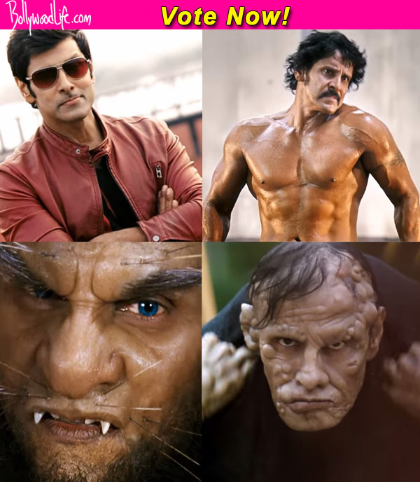 Body builder hunch back cripple beast vikrams different avatars the teaser depicts vikram in four different get ups a moustache bearing body builder a clean shaven stylish stud a hunchbacked cripple and a beast altavistaventures Choice Image