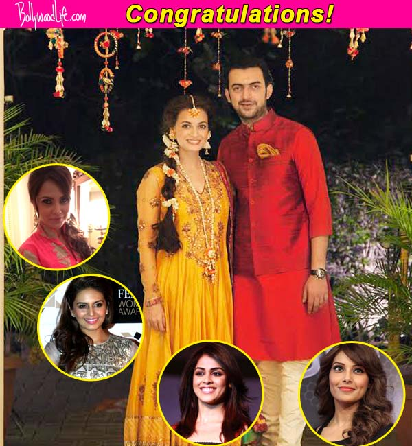 Huma Qureshi, Lara Dutta, Bipasha Basu and Genelia D'Souza wish Dia Mirza on her wedding to Sahil Sangha!