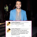 Jackky Bhagnani becomes the butt of jokes after mentioning Nobel Peace Prize winner Malala Yousafzai as 'masala' on Twitte