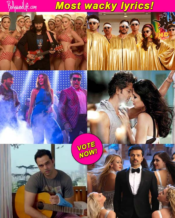 Which film has the wackiest lyrics – Saif Ali Khan's Happy Ending, Shah Rukh Khan's Happy New Year or Hrithik Roshan's Bang Bang? Vote!