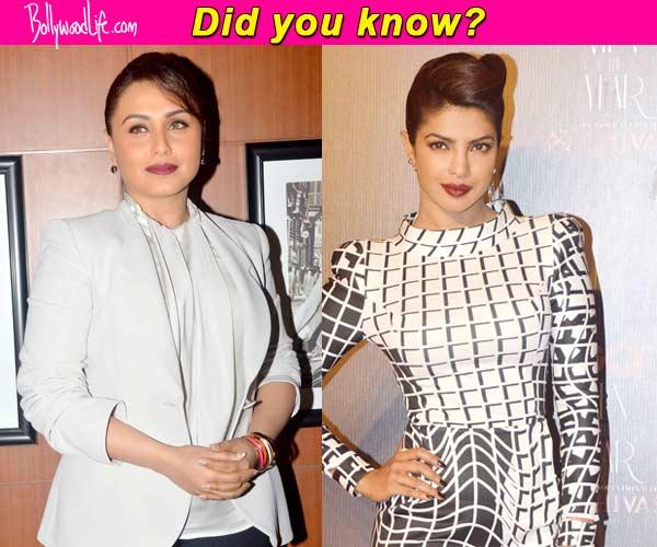 Did you know…Rani Mukerji was the first choice over Priyanka Chopra for Mary Kom ...