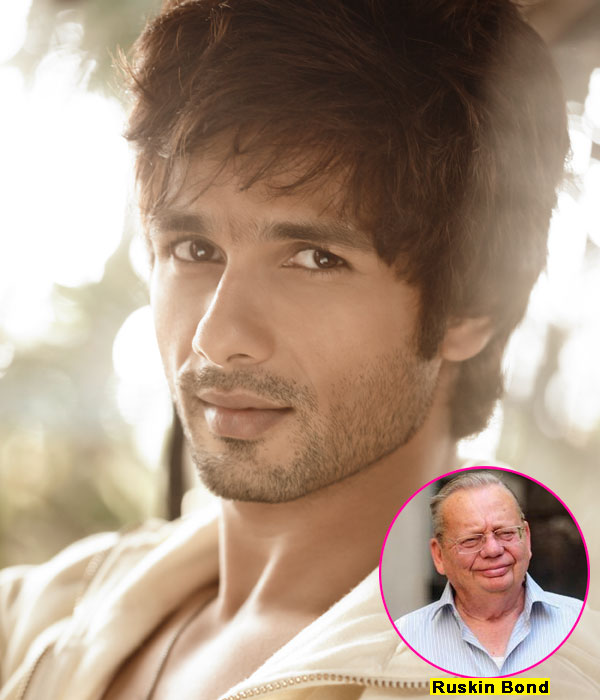 Ruskin Bond wants Shahid Kapoor to act in his biopic