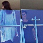 Not a healthy argument: Angelina Jolie spotted smoking a cigarette on a hotel balcony after a fight with Brad Pitt!