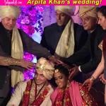 Brother Salman Khan and father Salim Khan wish the newly wed Arpita Khan and Ayush Sharma!