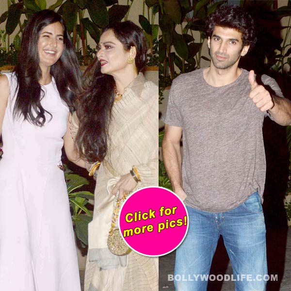 Katrina Kaif, Rekha met Aditya Roy Kapur to discuss Fitoor – View Pics!