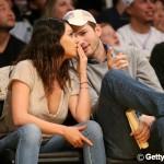 Ashton Kutcher and Mila Kunis get cosy during basket ball match – View pics!