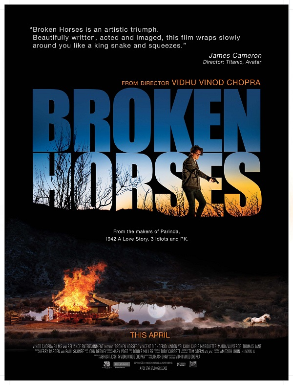 Vinod Chopra's Hollywood film Broken Horses to release on April 10