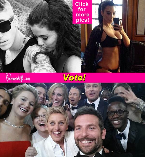 Ellen DeGeneres, Kim Kardashian, Justin Bieber-Selena Gomez : Which Hollywood celeb has the best selfie of 2014? Vote!