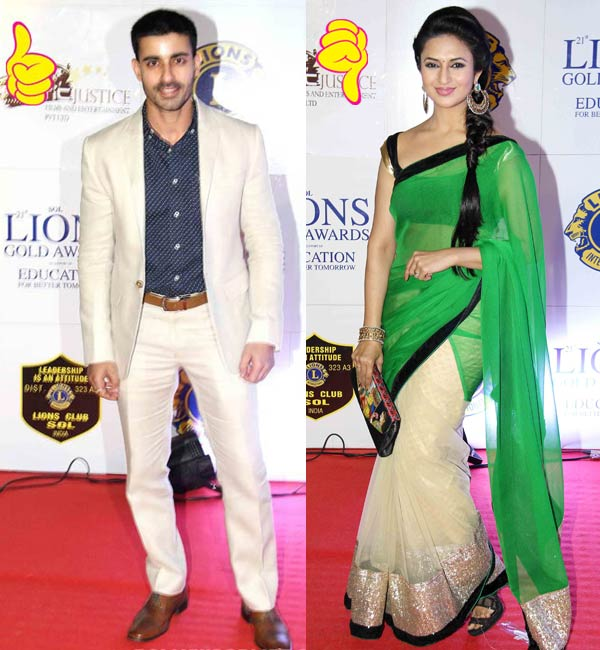 Gautam Rode's WOW and Divyanka Tripathi's WTF fashion moment at an awards night- view pic!