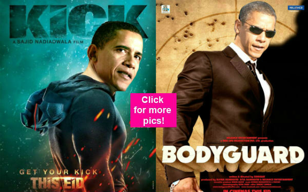 What if Barack Obama replaced Salman Khan in Kick and Bodyguard? View pics!