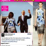 First Lady Michelle Obama arrives in India sporting a dress by Indian designer Bibhu Mohapatra!