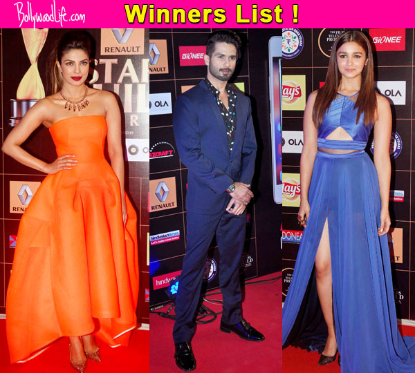 Star Guild Awards 2015: Shahid Kapoor, Priyanka Chopra, Alia Bhatt walk away with the trophies