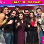 Bigg Boss 8 contestants Diandra Soares, Rahul Mahajan, Pritam Singh on Farah Ki Daawat – view pics!
