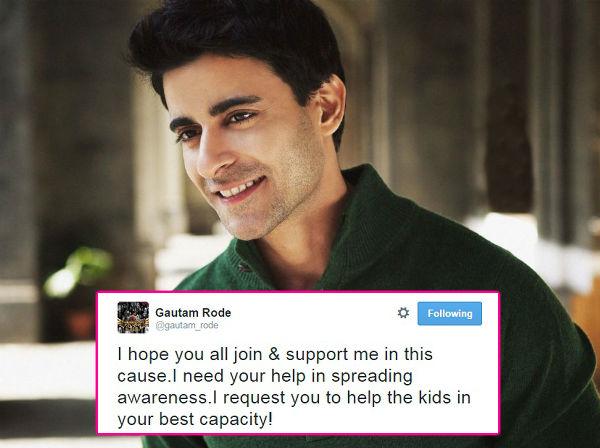 Mahakumbh actor Gautam Rode starts an initiative to help underprivileged street kids!
