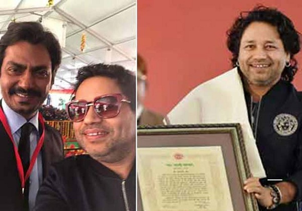 Nawazuddin Siddiqui and Kailash Kher receive Yash Bharti Award from Akhilesh Yadav