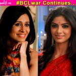 Sayantani Ghosh and Kishwer Merchant get into a friendly banter on the sets of Itna Karo Na Mujhe Pyaar