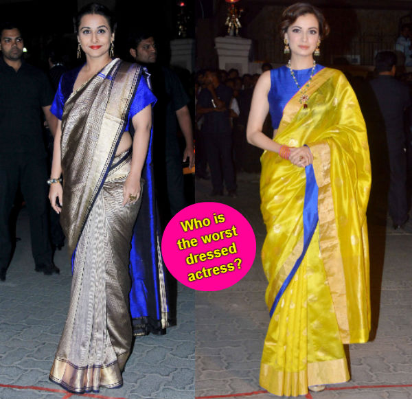 Vidya Balan or Dia Mirza: Whose Filmfare awards red carpet fashion sense was worse? Vote!