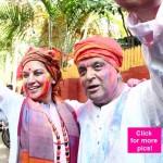 Dia Mirza, Farhan Akhtar, Richa Chadda, Nandita Das celebrate Holi with Javed Akhtar and Shabana Azmi – View pics!