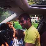 Kumkum Bhagya's Abhi aka Shabbir Ahluwalia takes a drive with his son: View pic!