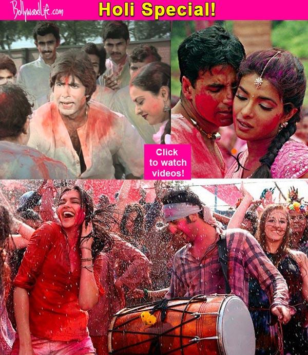 Holi special: Ranbir's Balam Pichkari, Ranveer- Deepika's Lahu Munh Lag Gaya, Amitabh-Rekha's Rang Barse - songs for the festival of colours!